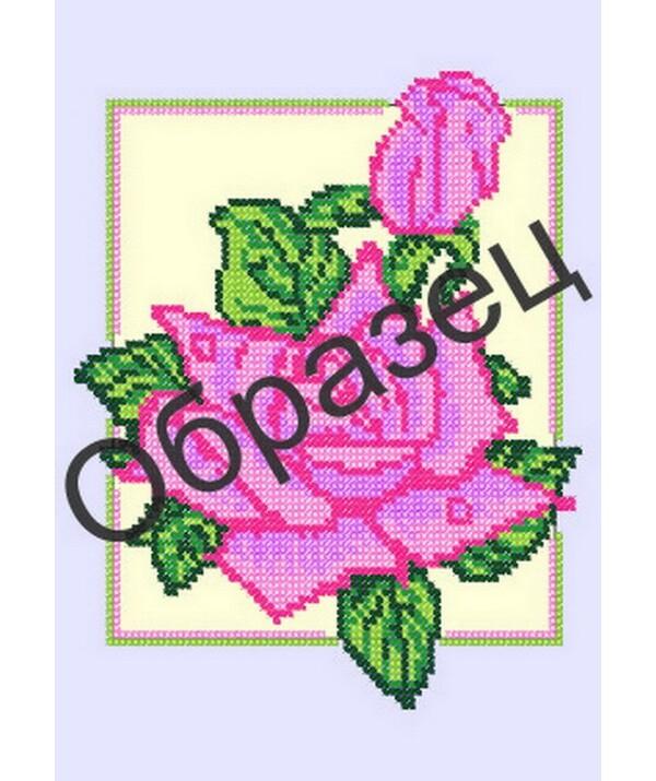 Схема для вышивки бисером Роза.  Арт.  НА-157.